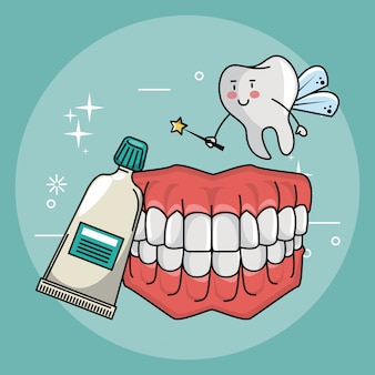 Dental care cartoons