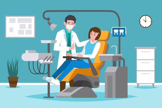 Dental care concept illustrated