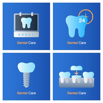 Dental care concept. prevention, check up and dental treatment.