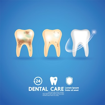 Dental care creative concept.