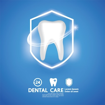 Dental care creative concept.