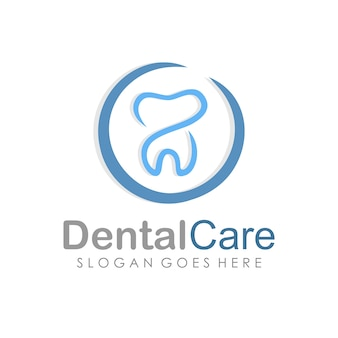 Dental care and dentistry logo deign template