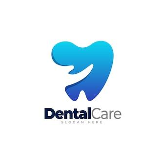 Dental care gradient logo template