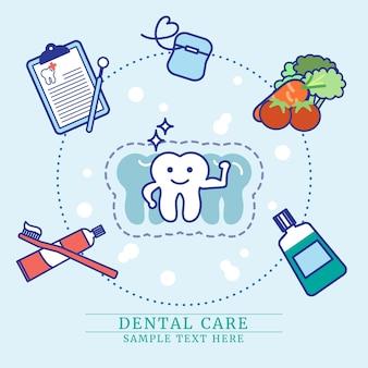 치과 치료 지시 개념