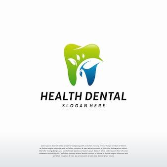 Dental care logo template, dental health logo symbol icon vector