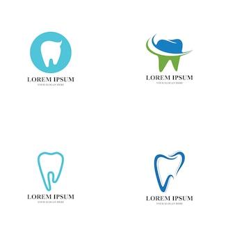 치과 치료 로고 템플릿 벡터 일러스트 아이콘 디자인