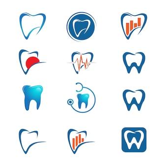 Dental care logo template