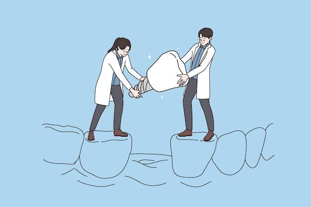 치과 치료 교정 치과 임플란트 개념