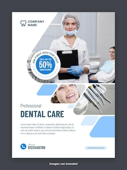Dental care services poster template