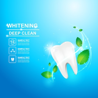 Dental care and teeth advertising or promotion template