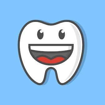 歯科ケア歯の漫画のキャラクターのイラストデザイン