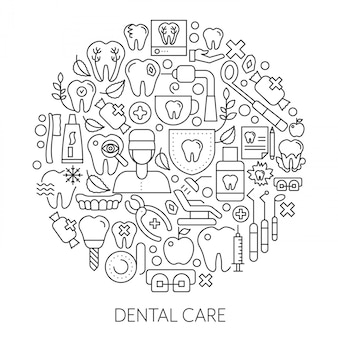 Dental care web design concept