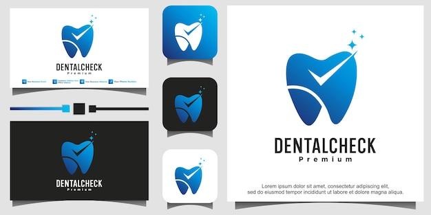 Dental check logo design template