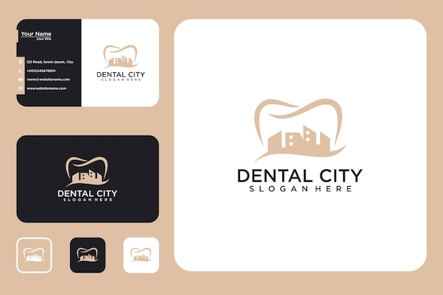 Dental city logo design and business card
