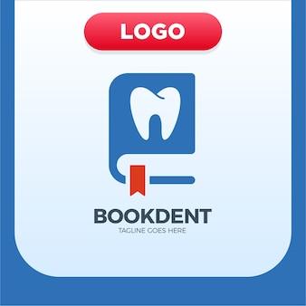 歯科クリニックブックアイコンロゴデザインエレメント