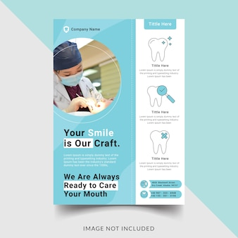 Dental clinic flyer template design