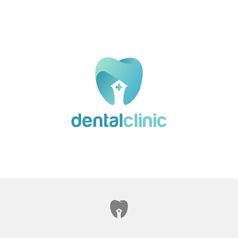Dental clinic logo teeth abstract design template