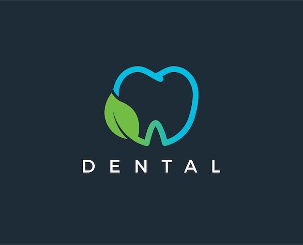 歯科医院のロゴテンプレート Premiumベクター