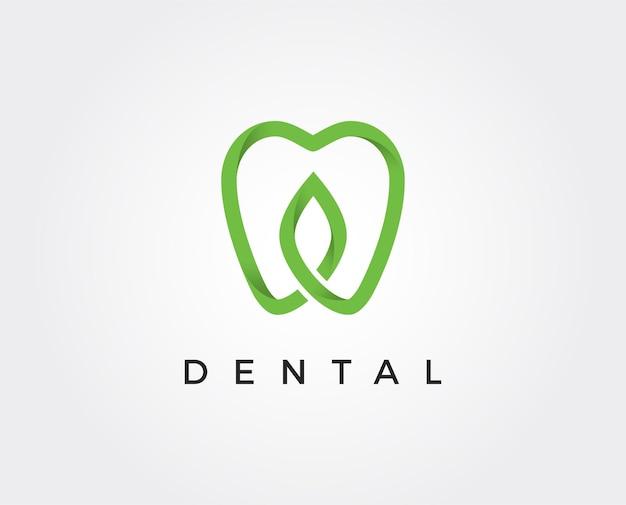 歯科医院のロゴ歯の抽象的なデザインテンプレート線形スタイル。歯科医の口腔病学の医師のロゴタイプの概念のアイコン。 Premiumベクター