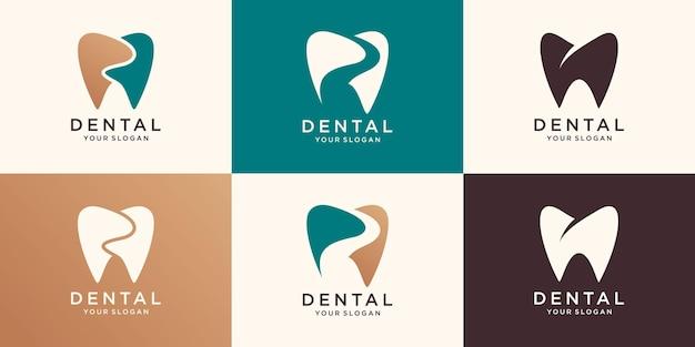 Dental clinic logo. unique. modern effect. clean. icon. vector.