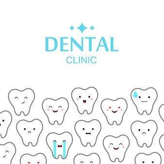 Dental clinic teeth background.