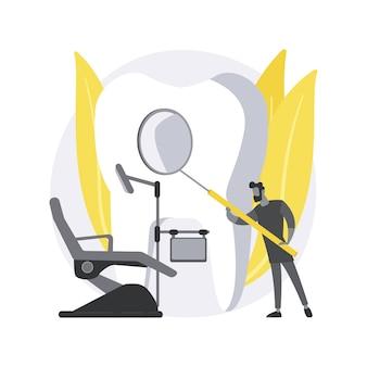 Dental examination abstract concept illustration.