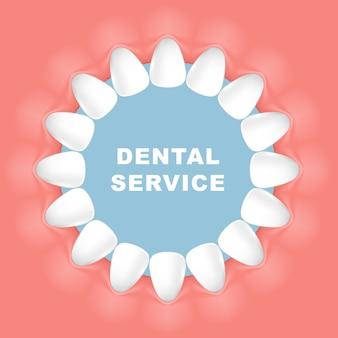 Стоматологическая оправа - круглая оправа, ряд зубов
