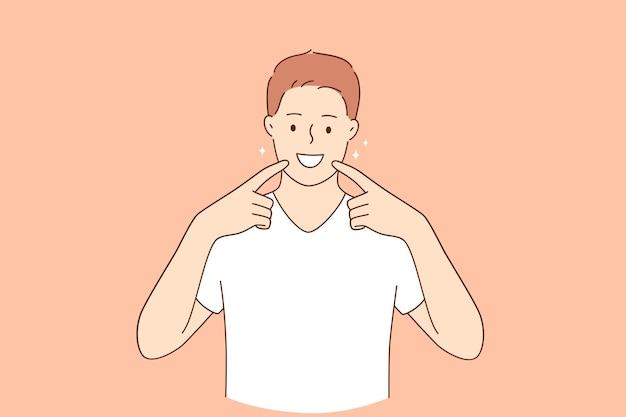치과 건강 및 위생 개념