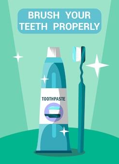 歯科医療フラットポスターコンセプト