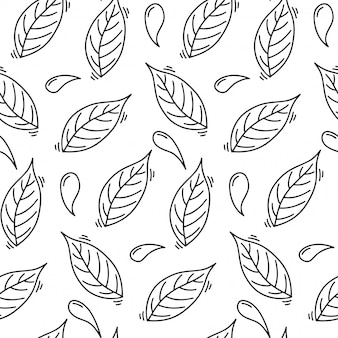Dental health, seamless pattern in doodle style.