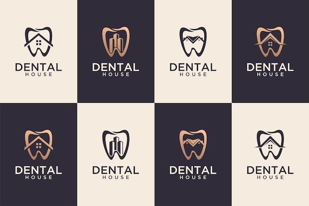 치과 집 로고 디자인 컬렉션