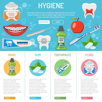 Dental hygiene  and infographics