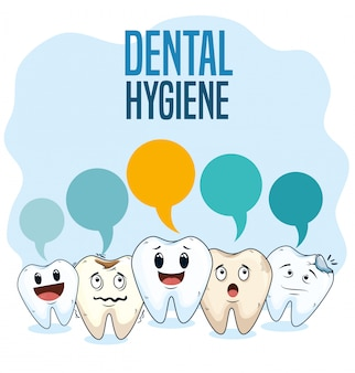 Dental hygiene treatment with professional medicine