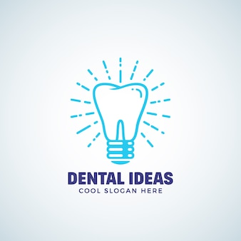 Dental ideas   logo template with modern typography.