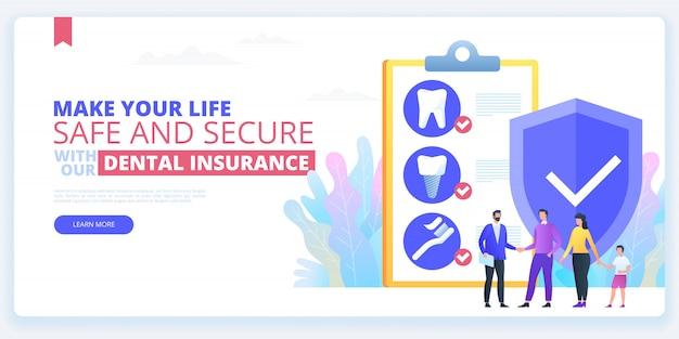 Dental insurance. tooth treatment.