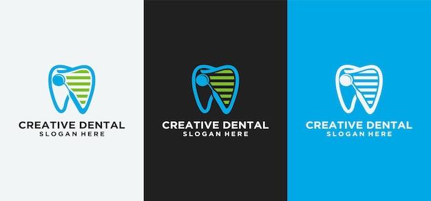 歯科ロゴデザイン歯科インプラントロゴ高級デザインの歯科clinicabstract歯科歯科医