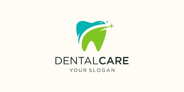 Dental logo design template. icon tooth abstract modern.