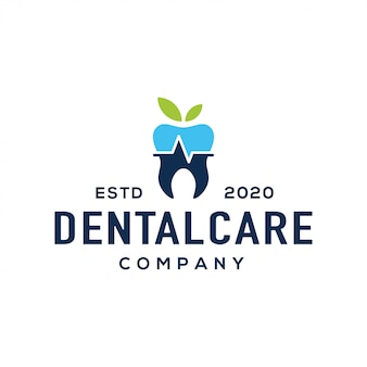 Dental logo design vector.