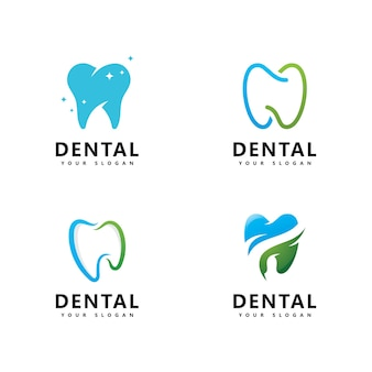 歯科ロゴアイコンデザインベクトル