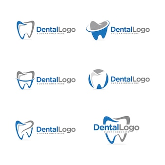 Dental logo set template