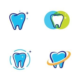 Стоматологический логотип шаблон векторные иллюстрации дизайн иконок