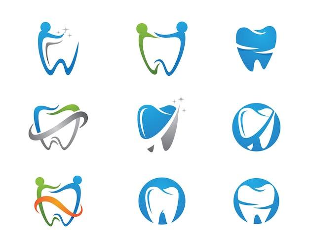 歯科ロゴテンプレートベクトルイラストアイコンデザイン
