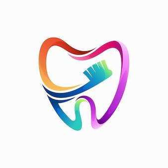 Стоматологический логотип с концепцией зубной боли