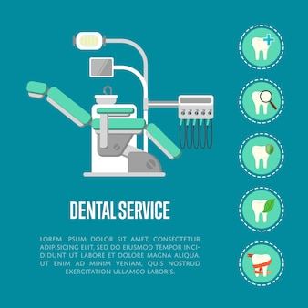 Dental service banner with dental chair