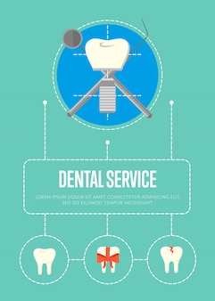 Dental service banner with tooth implant