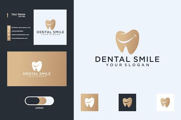 歯科笑顔のロゴデザインと名刺