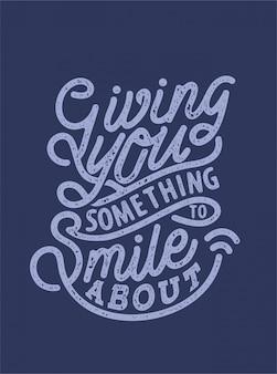 Dental smile typography