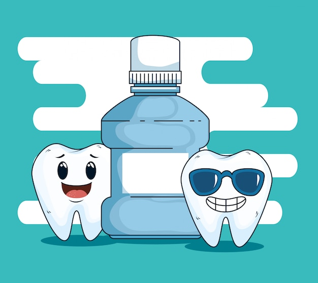 Dental teeth care with mouthwash equipment