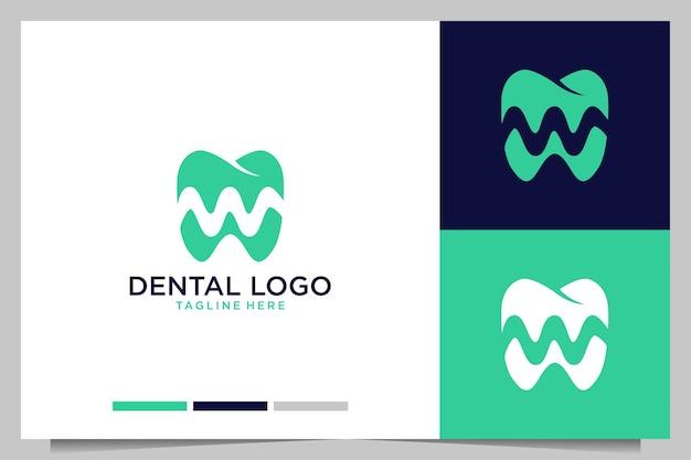 Dental with letter w logo design