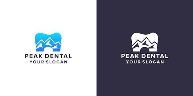Dental with peak logo design